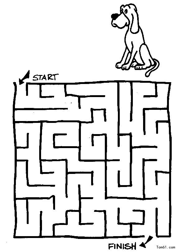 迷宫-简笔画图片-儿童资源网手机版