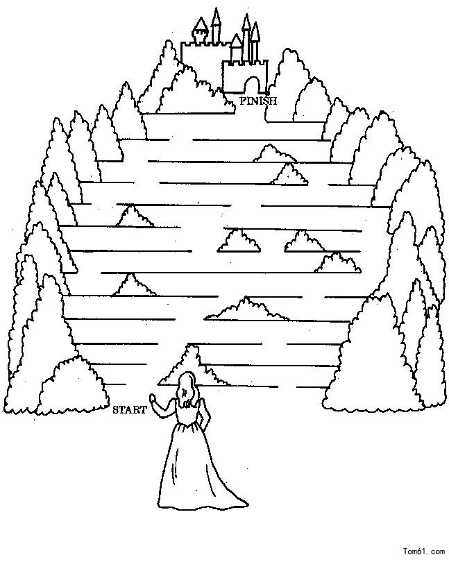迷宫简笔画1080 1920