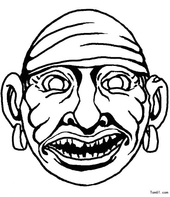 面具 简笔画 图片 儿童 资源网手机版