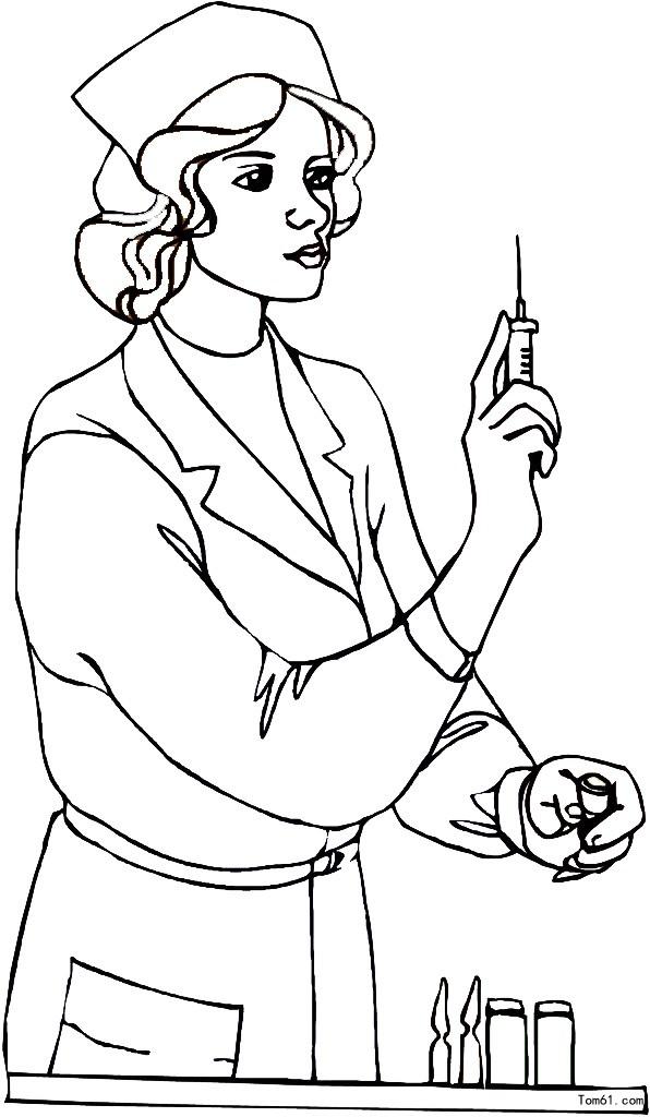 护士-简笔画图片-儿童资源网手机版图片