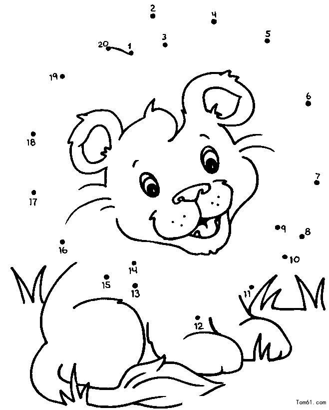 数字连线3-简笔画图片-儿童资源网手机版