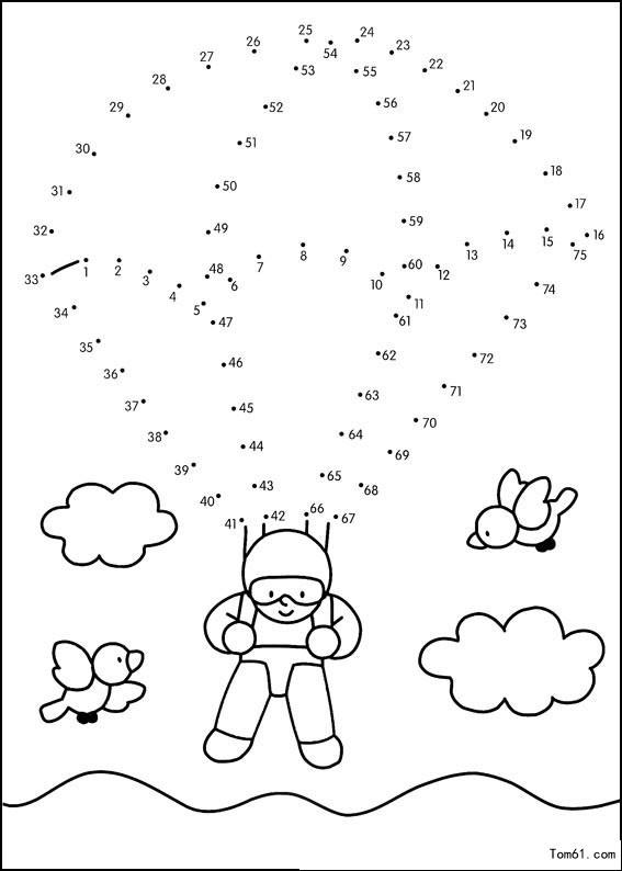 数字连线4-简笔画图片-儿童资源网手机版
