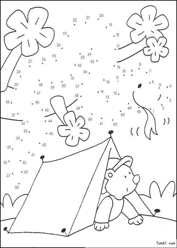 数字连线6-简笔画图片-儿童资源网手机版